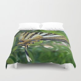 Swallowtail With Partially Closed Wings Side View Duvet Cover