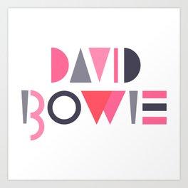 Memphis Bowie Art Print