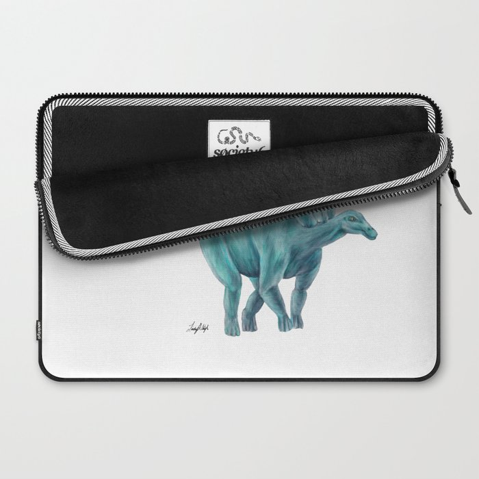 Blue Stegosaurus Laptop Sleeve