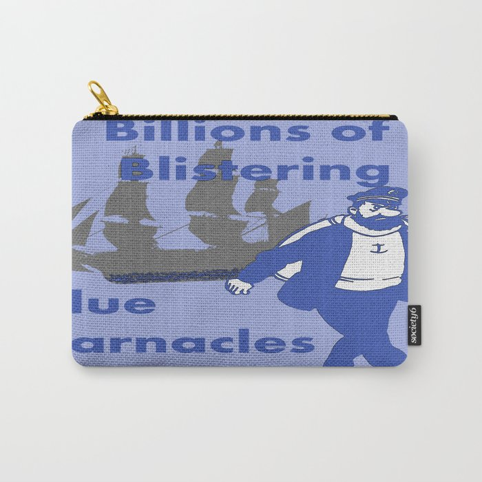 Blue Barnacles Carry-All Pouch