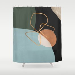 Geometric cosmos Shower Curtain