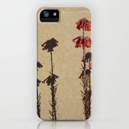 Shadows and flowers iPhone Case