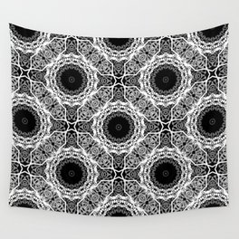 Black and white ornament . Wall Tapestry