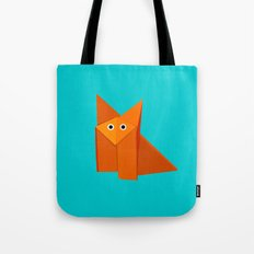 Cute Origami Fox Tote Bag
