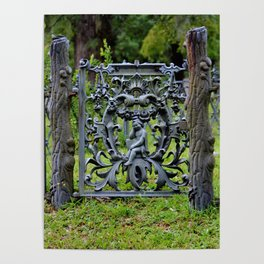 Lovely Cemetery Gate Poster