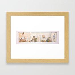 A home for babe Framed Art Print