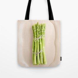 Fresh green asparagus Tote Bag