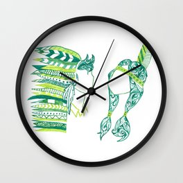 Peter Pan and Tiger Lilly Wall Clock