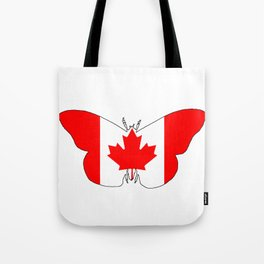 Canada Butterfly Tote Bag