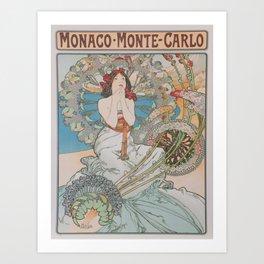 Vintage poster - Monte Carlo Art Print