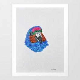 Zentangle Parrot Art Print