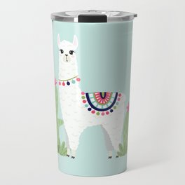 Cute Desert Alpaca Travel Mug