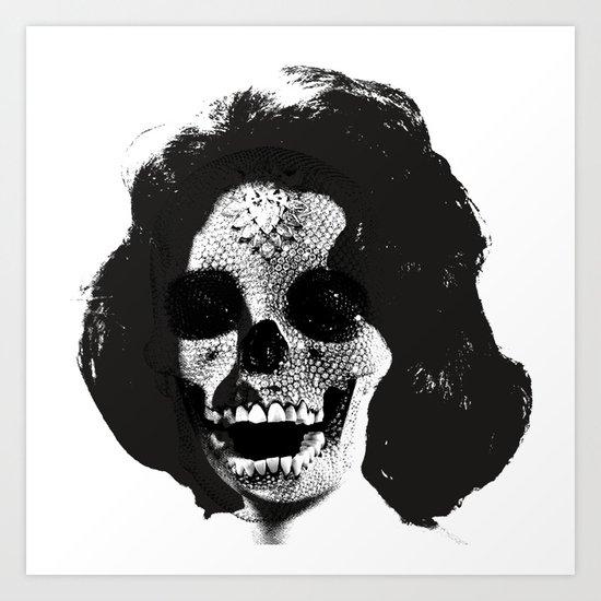 Norman Bates' Auntie Liz (Liz Taylor Skullface) Art Print