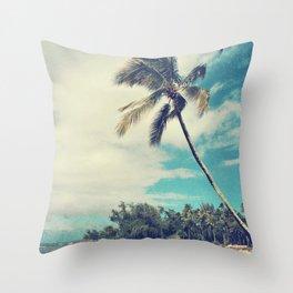 Vintage Tropics Throw Pillow