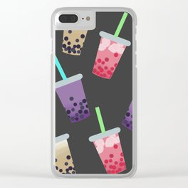 Bubble Tea Party Clear iPhone Case