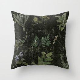 Magickal Plants Throw Pillow
