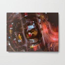 Berlin Night Aerial View Metal Print