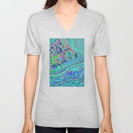 Wild Island 1 and 2 Combination Unisex V-Neck