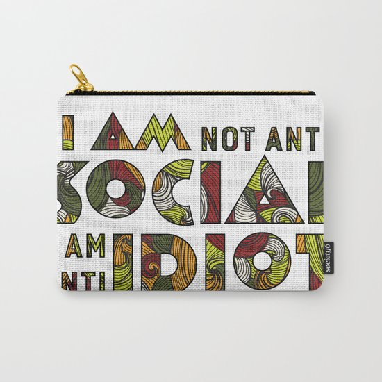 Social Sarcastic Typography Design Carry-All Pouch