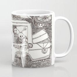 "Carretera de coches con esqueletos ""Santa Muerte"" Coffee Mug"