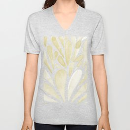 Watercolor artistic drops - yellow Unisex V-Neck