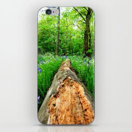 Log Through The Flowers iPhone Skin