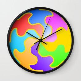 Funny Colorful Circle Wall Clock