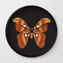 Atlas Moth (Attacus Atlas) Wall Clock