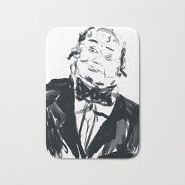 A very jolly waiter!! Bath Mat