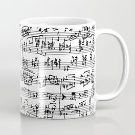 Hand Written Sheet Music Coffee Mug