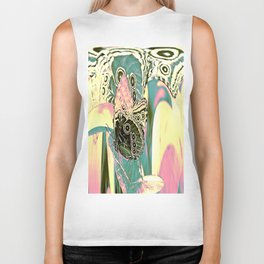 Butterfly in Spacy Freaky Wonderland  Biker Tank