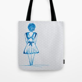 blue girl Tote Bag
