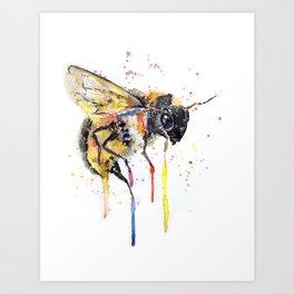 Don`t Worry BEE happy Art Print