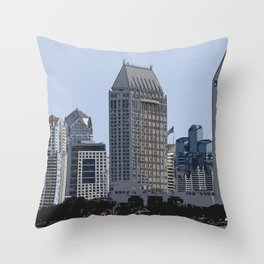 Lining San Diego Bay Throw Pillow
