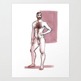 TEX, Nude Male by Frank-Joseph Art Print