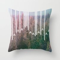planes Throw Pillows featuring Paper Planes by stephanie nichole
