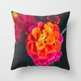Color Pop Flower Throw Pillow