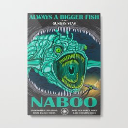 Naboo Travel Poster Metal Print
