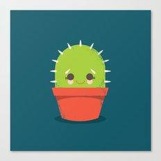 Kawaii Cactus Dude Canvas Print