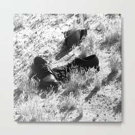 The Desert of Lost Shoes Metal Print