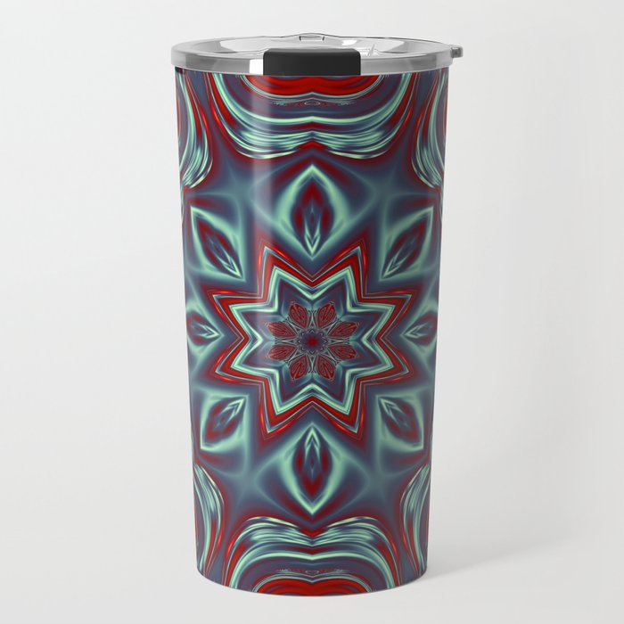 Grey Glow Mandala Travel Mug