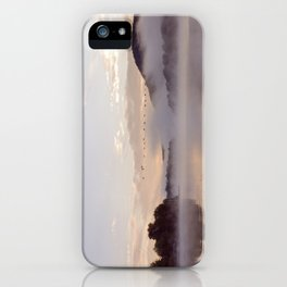 Into the Mists of Dawn: Sunrise on Lake George iPhone Case