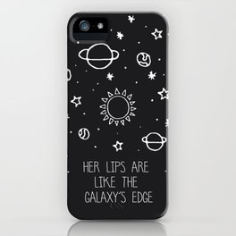 Her lips are like the Galaxy's edge iPhone Case