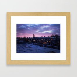 Groningen Sunset, The Netherlands Framed Art Print