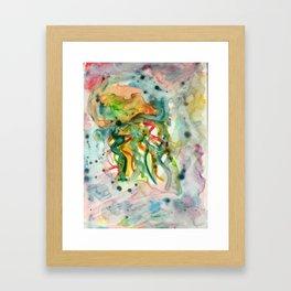 Jellyfish in Kaleidoscope Vision Framed Art Print