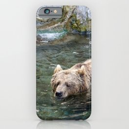 Awe Inspiring Adult Grizzly Bear Swimming In Water Ultra HD iPhone Case