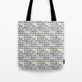 Inspirational Words Black and Gold Tote Bag