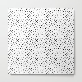 Brush Dots Metal Print