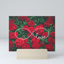 Red Roses Photography & Infinity Love Sign Mini Art Print