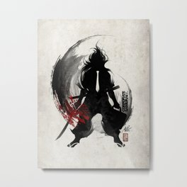 Corporate Samurai Metal Print